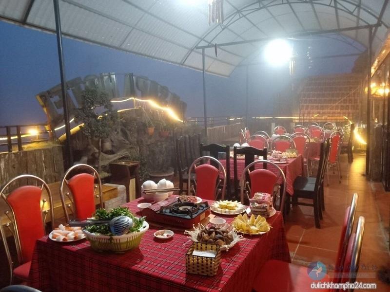 không gian rộng rãi của nhà hàng Dh Sapa - Baotrithuc.vn