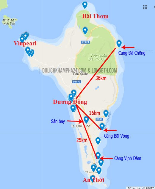 Bản đồ Phú Quốc - Baotrithuc.vn